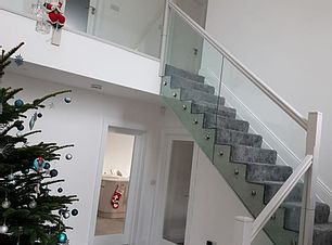 Fully Framed Glass Stairs